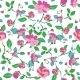 Vector Pink Blue Green Flowers Leaves Seamless - GraphicRiver Item for Sale