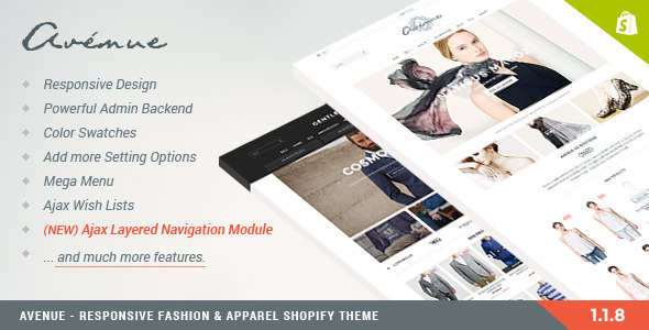 Avenue – Responsive Shopify Theme