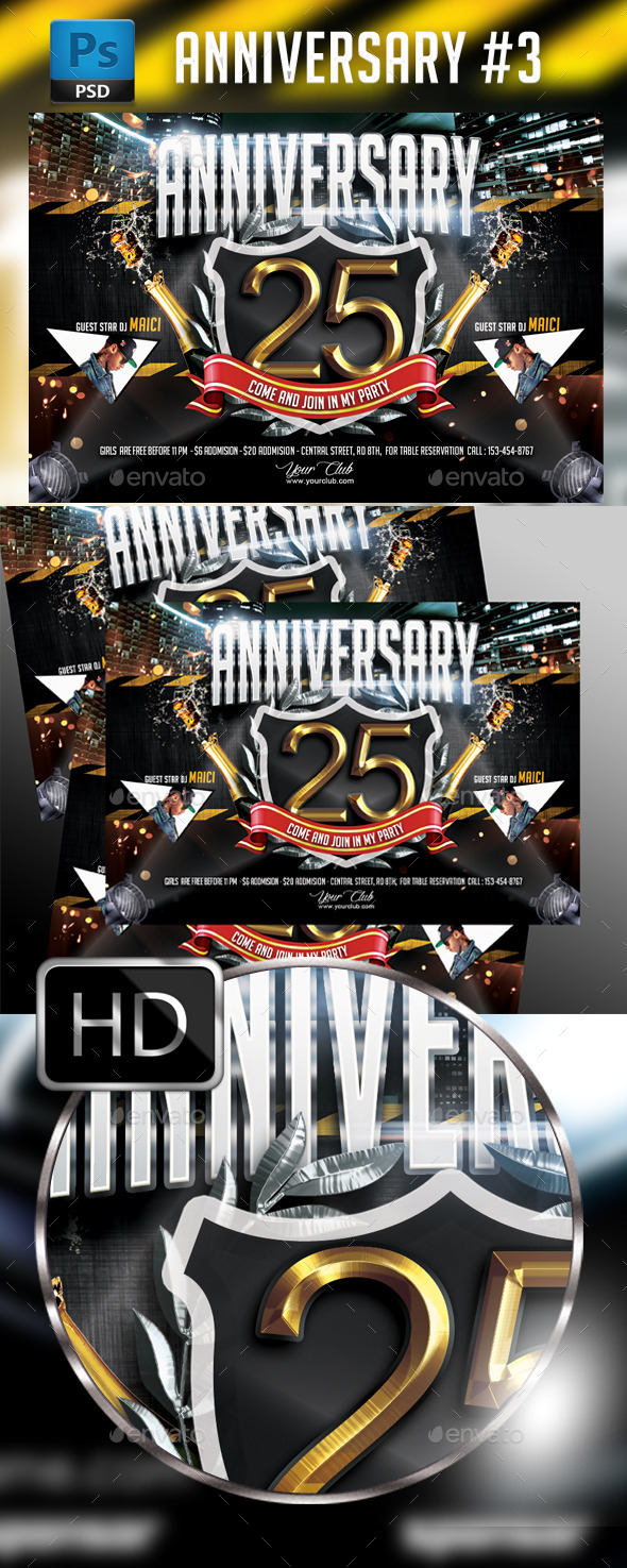 Anniversary Party - Events Flyers
