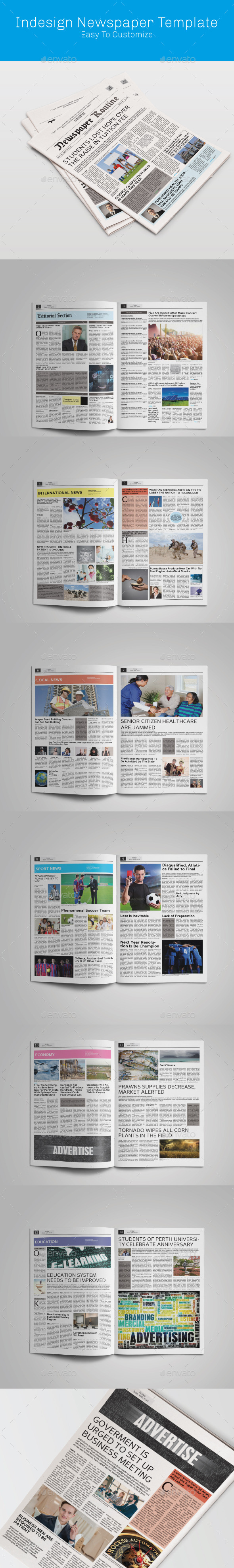 Tabloid Indesign Newspaper  - Newsletters Print Templates