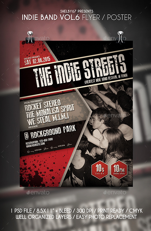 Indie Band Flyer / Poster Vol 6 - Events Flyers