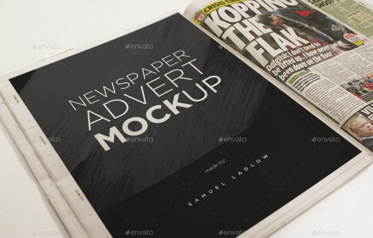 6 newspaper advert mockups by samladlow graphicriver