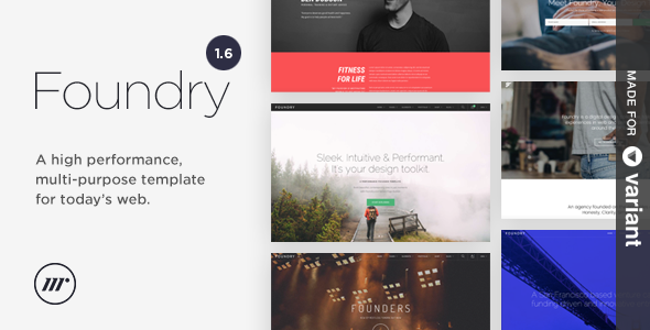 Foundry – Multipurpose HTML + Variant Page Builder