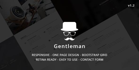 Gentleman – Personal vCard Template