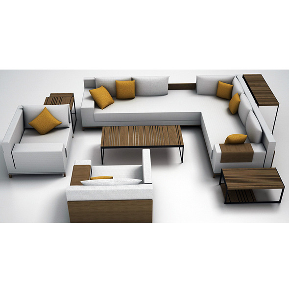 Sofa set - 3DOcean Item for Sale