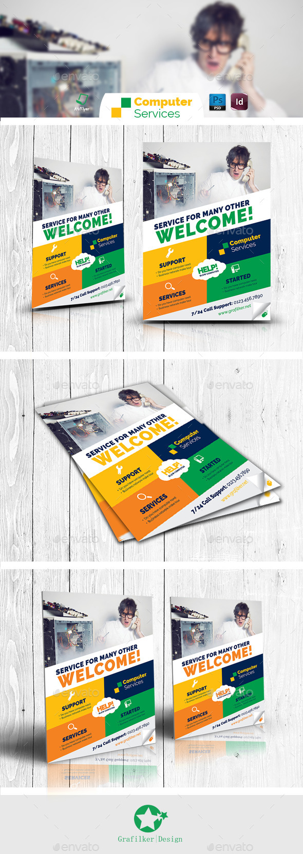 Computer Repair Flyer Templates - Corporate Flyers