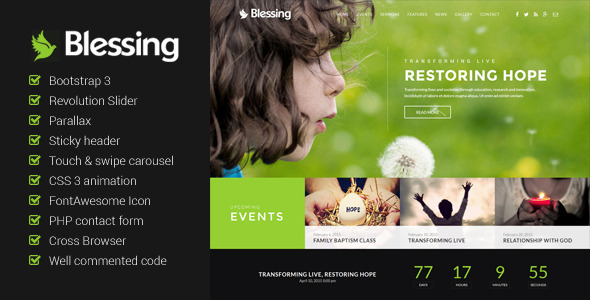 Blessing – Church Website Template
