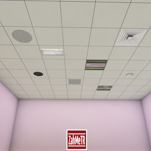 Attractive Office Ceiling Panels   3DOcean Item For Sale