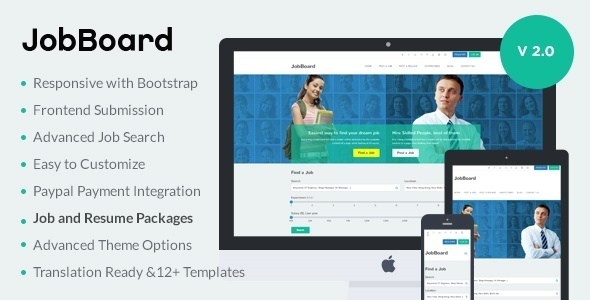 JobBoard – Responsive Job & Resume Market WordPress Theme
