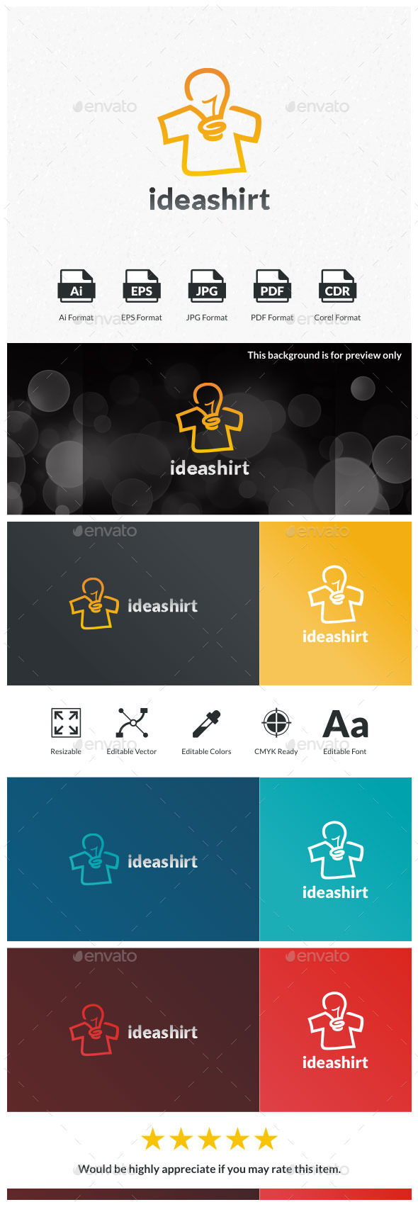 Idea Shirt Logo Tempate - Objects Logo Templates