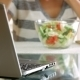 Housewife Eating Salad - VideoHive Item for Sale