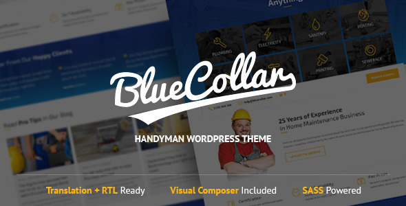 Blue Collar - Handyman WordPress Theme