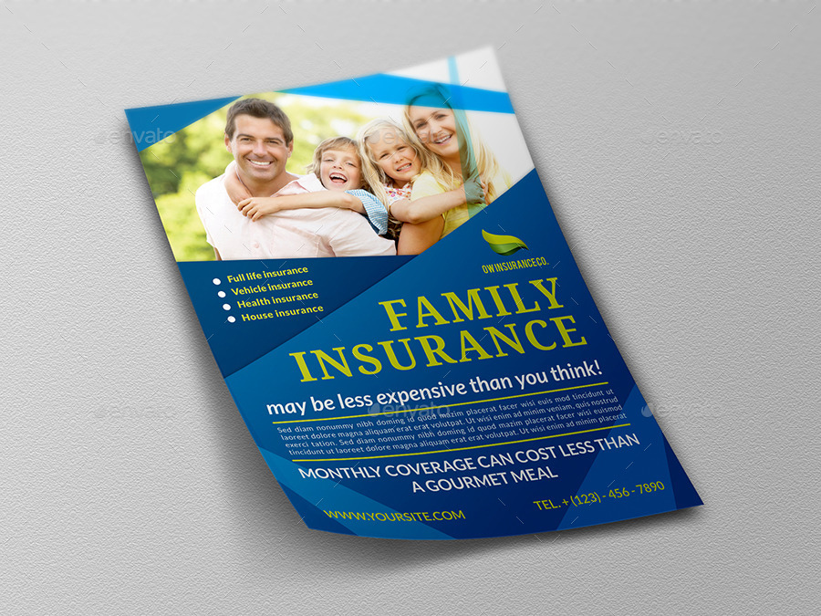insurance flyer templates  Insurance Flyer Template by OWPictures | GraphicRiver