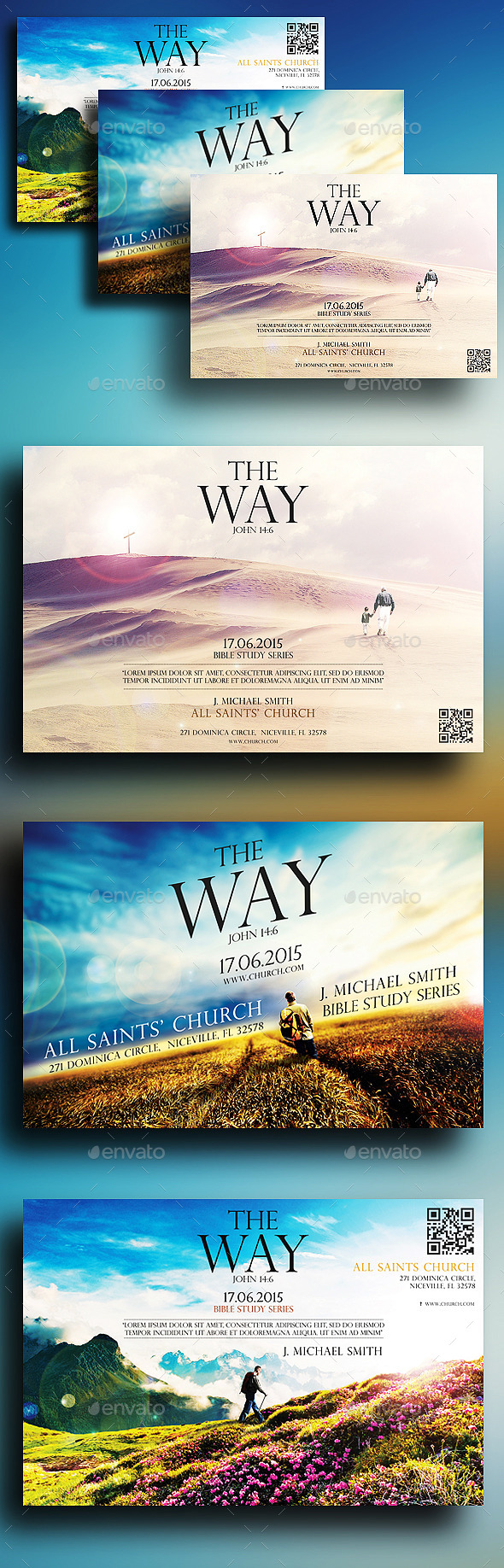 The Way Church Flyers Bundle - Church Flyers