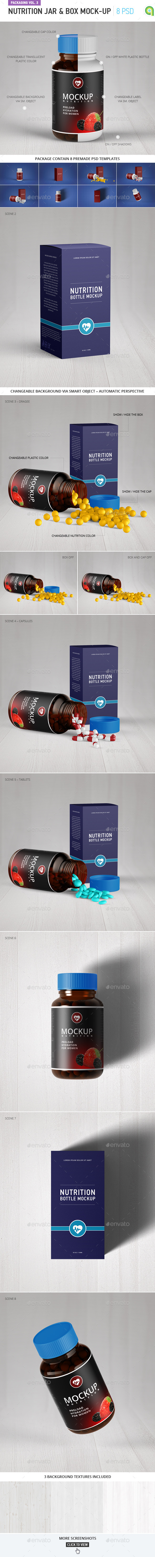 Nutrition jar and box mock-up - Miscellaneous Packaging
