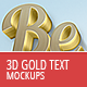 3D Gold Text Mockups - GraphicRiver Item for Sale