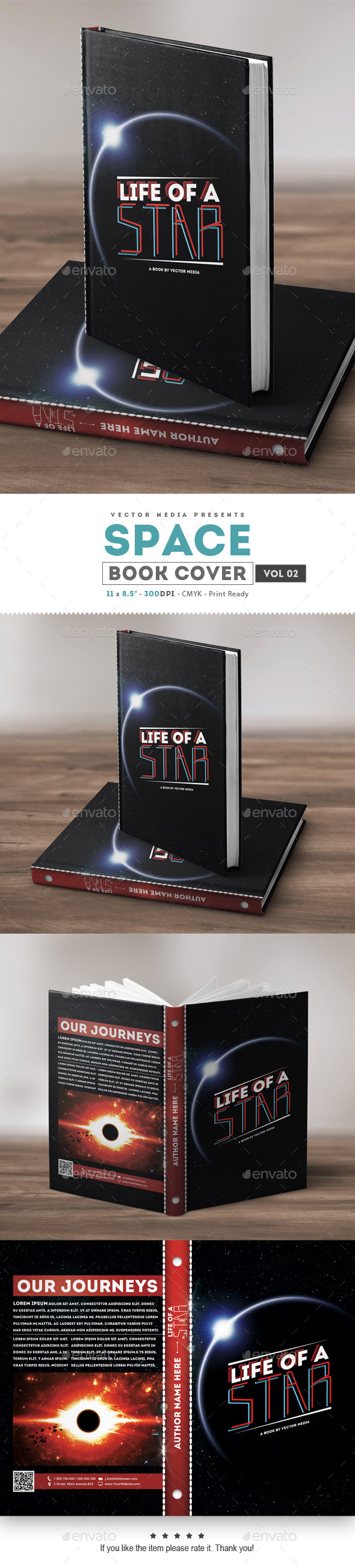 Space - Book Cover [Vol.2] - Miscellaneous Print Templates
