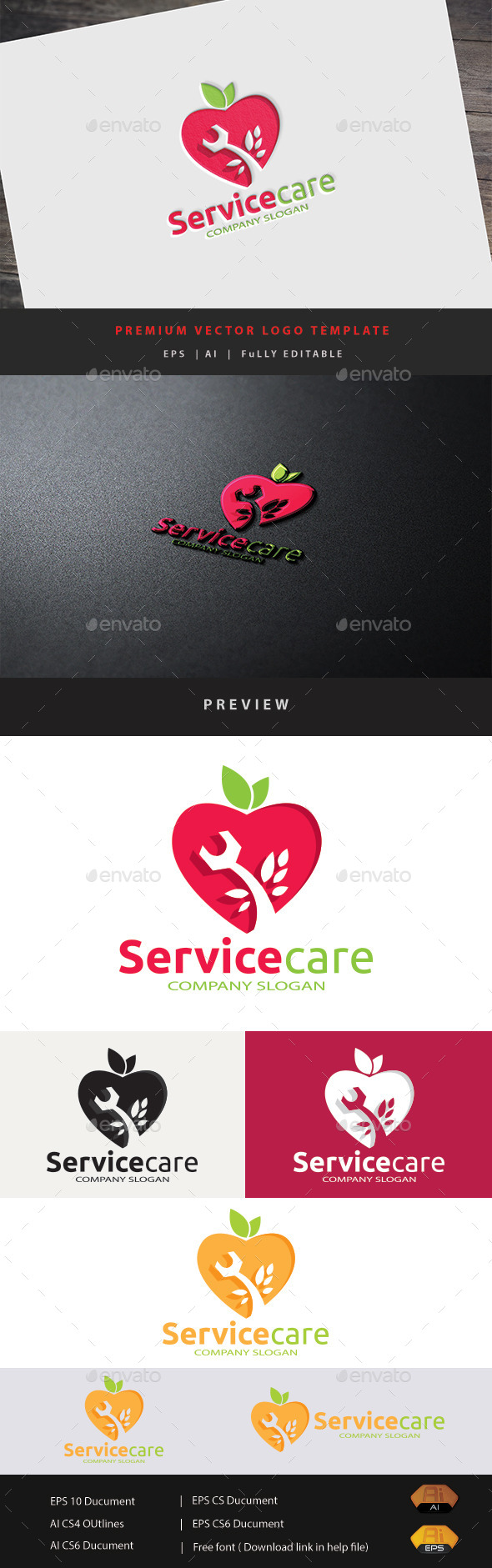 Service Care - Humans Logo Templates