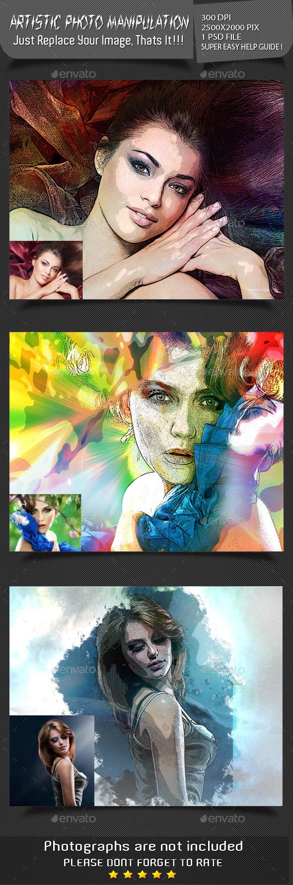 Artistic Photo Manipulation - Artistic Photo Templates