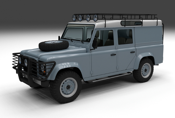 Land Rover Defender 110 Utility Station Wagon w in - 3DOcean Item for Sale