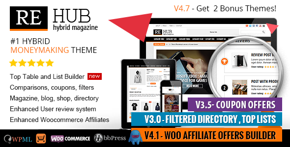 REHub – Directory, Shop, Coupon, Affiliate Theme
