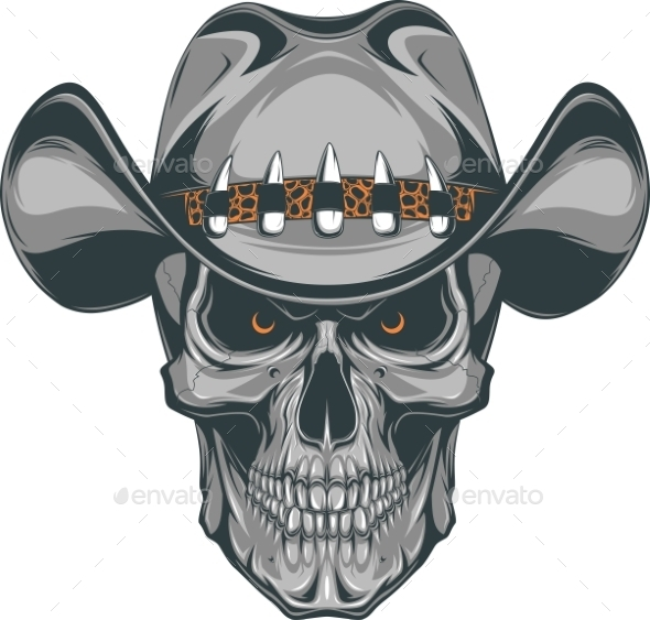 Skull Cowboy - Tattoos Vectors