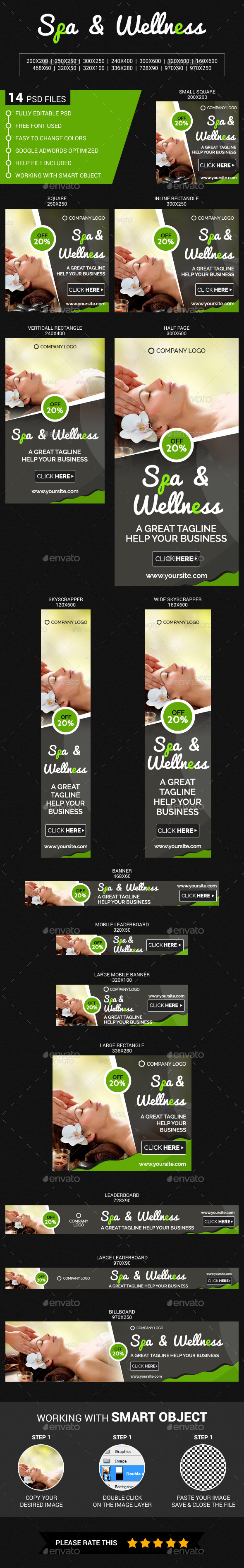 Spa & Wellness - Banners & Ads Web Elements