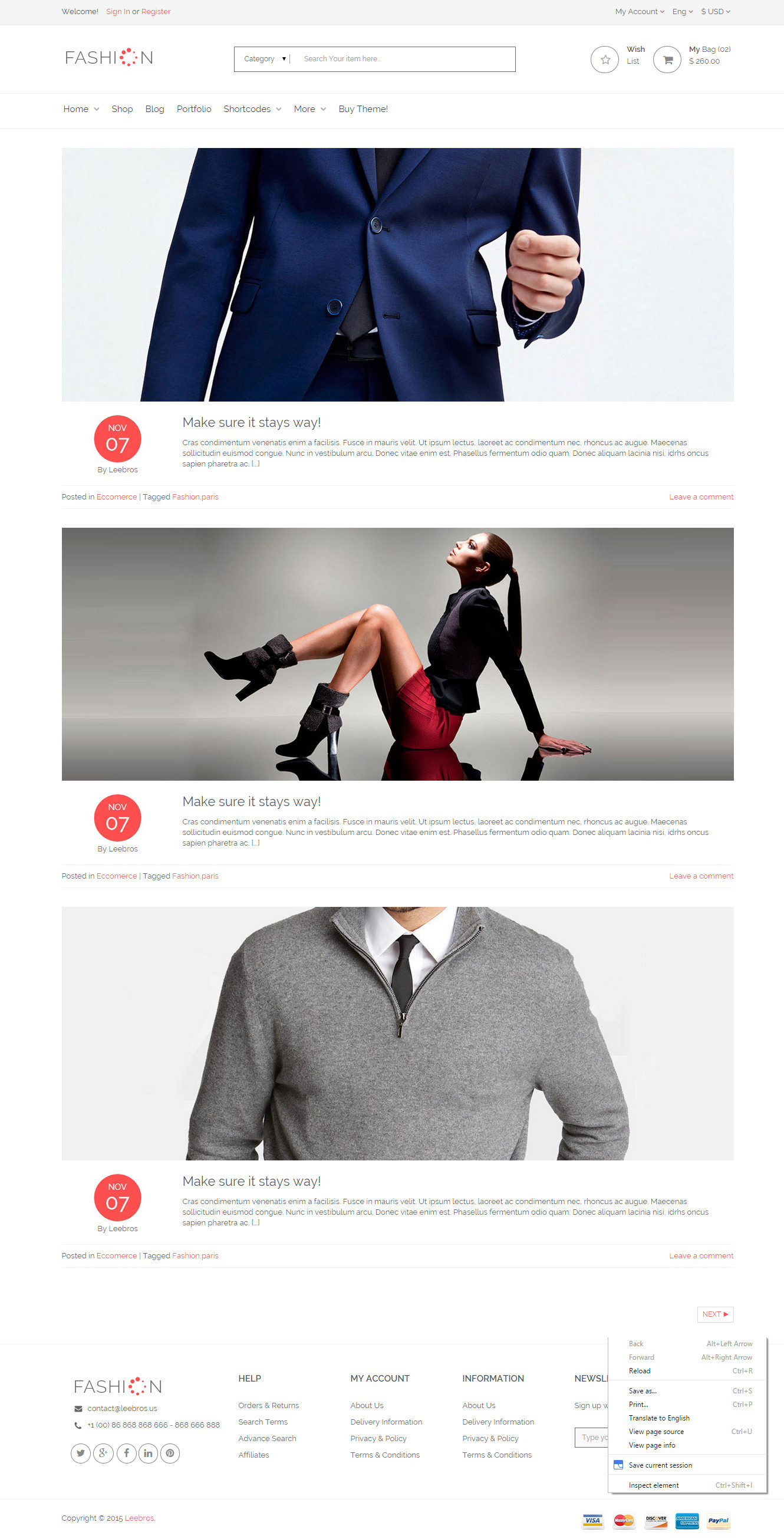 The Fashion - eCommerce Shop HTML Template by levantech | ThemeForest