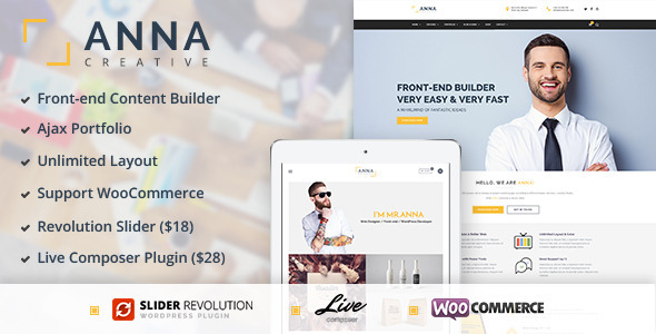 Anna - Creative Multipurpose WordPress Theme