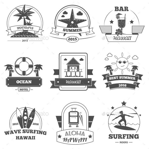Beach Label Set - Miscellaneous Vectors