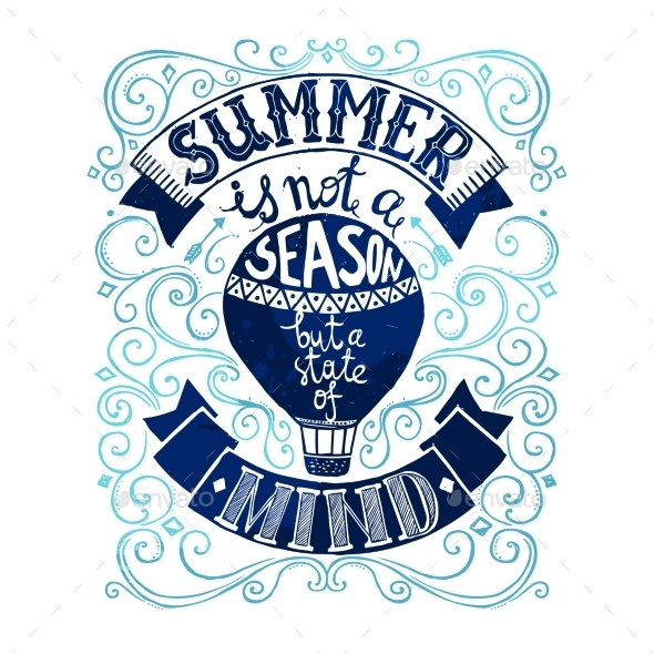 Summer Postcard Template - Backgrounds Decorative