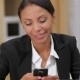 Busy Business Woman Texting On Her Cell Phone - VideoHive Item for Sale