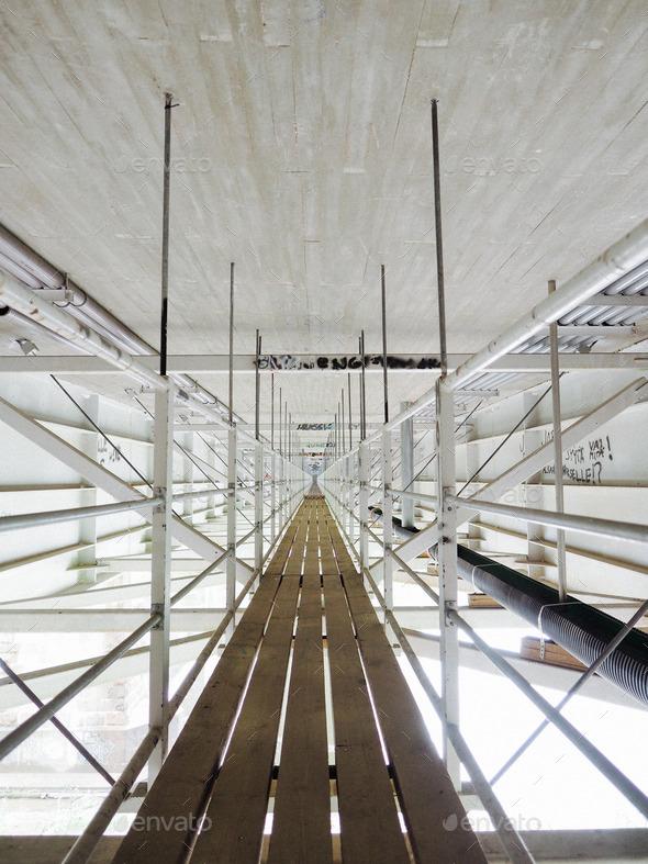 Symmetry under a bridge - Stock Photo - Images