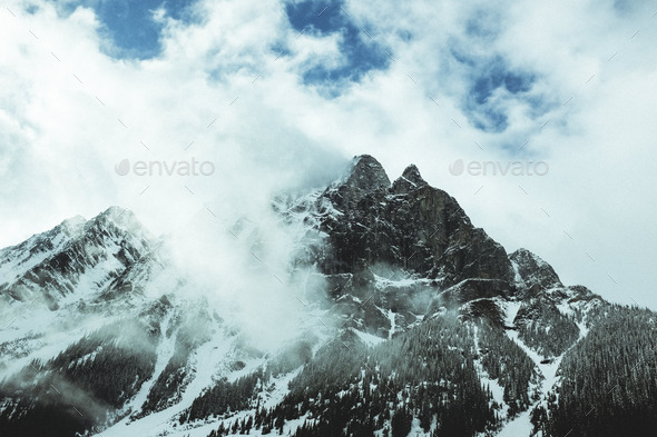 Mountains in the winter. - Stock Photo - Images