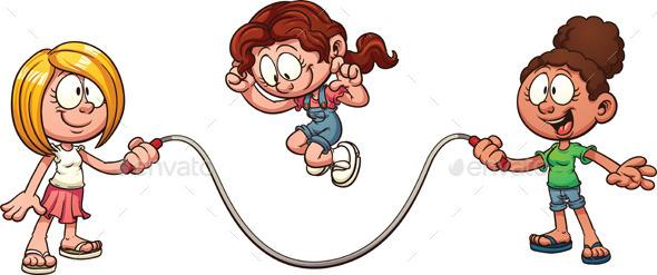 Jump Rope - Characters Vectors