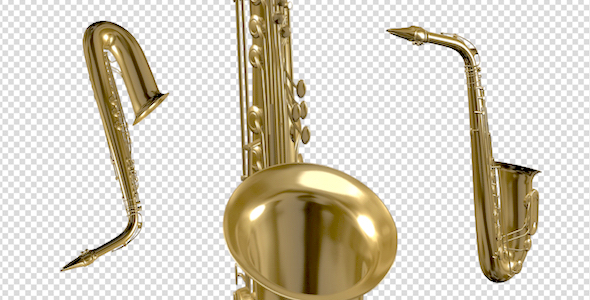 Saxophone Flying Over Screen Pack of 3