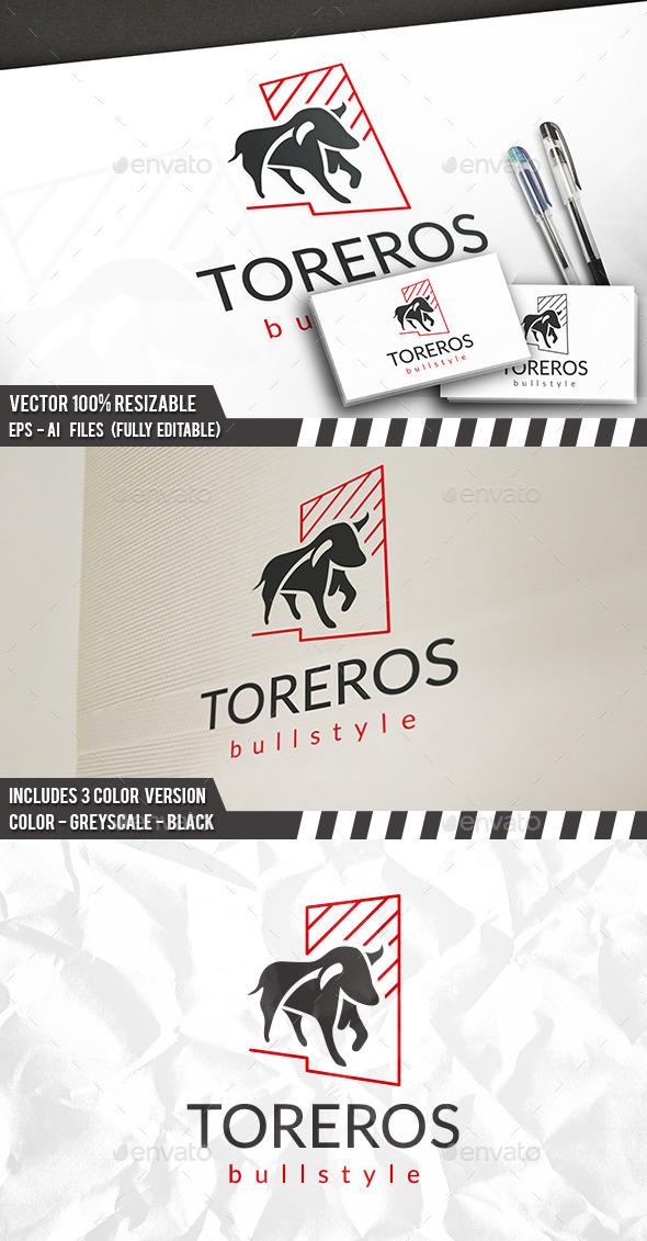 Bull Studio Logo - Animals Logo Templates