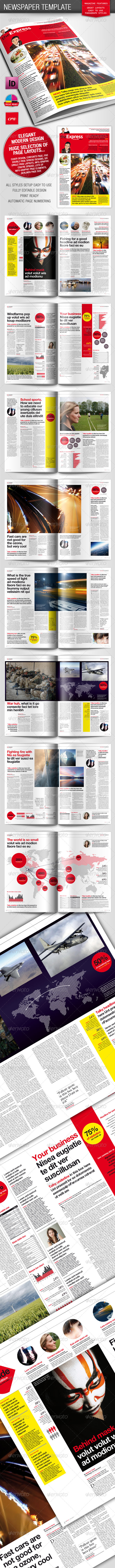 Berliner Newspaper/Magazine Template - Magazines Print Templates