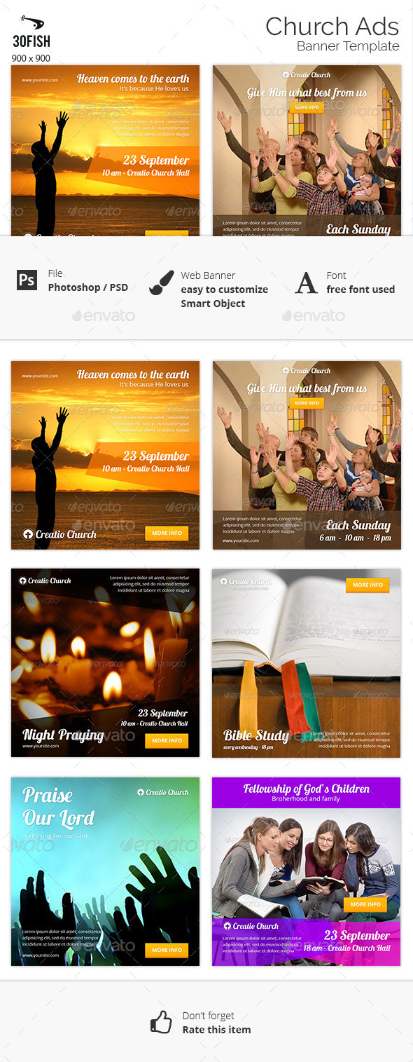 Church Ads Banner - Banners & Ads Web Elements