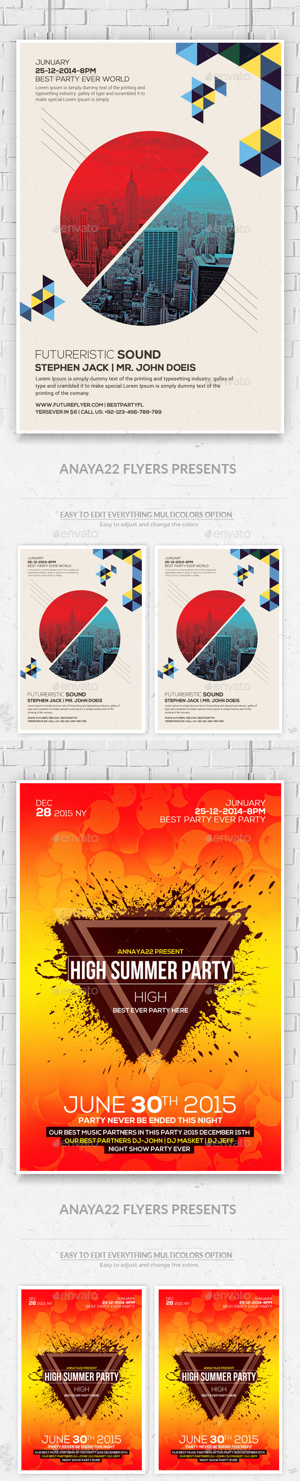 City Concert – Flyer / Poster Bundle - Clubs & Parties Events