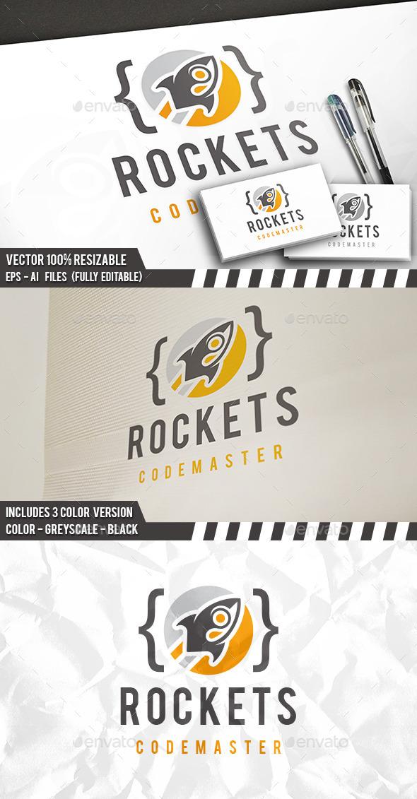 Code Rocket Logo - Symbols Logo Templates
