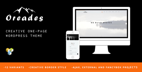 Oreades – Creative One-Page WordPress Theme