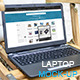 Laptop Mock-Up Wood Garden - GraphicRiver Item for Sale