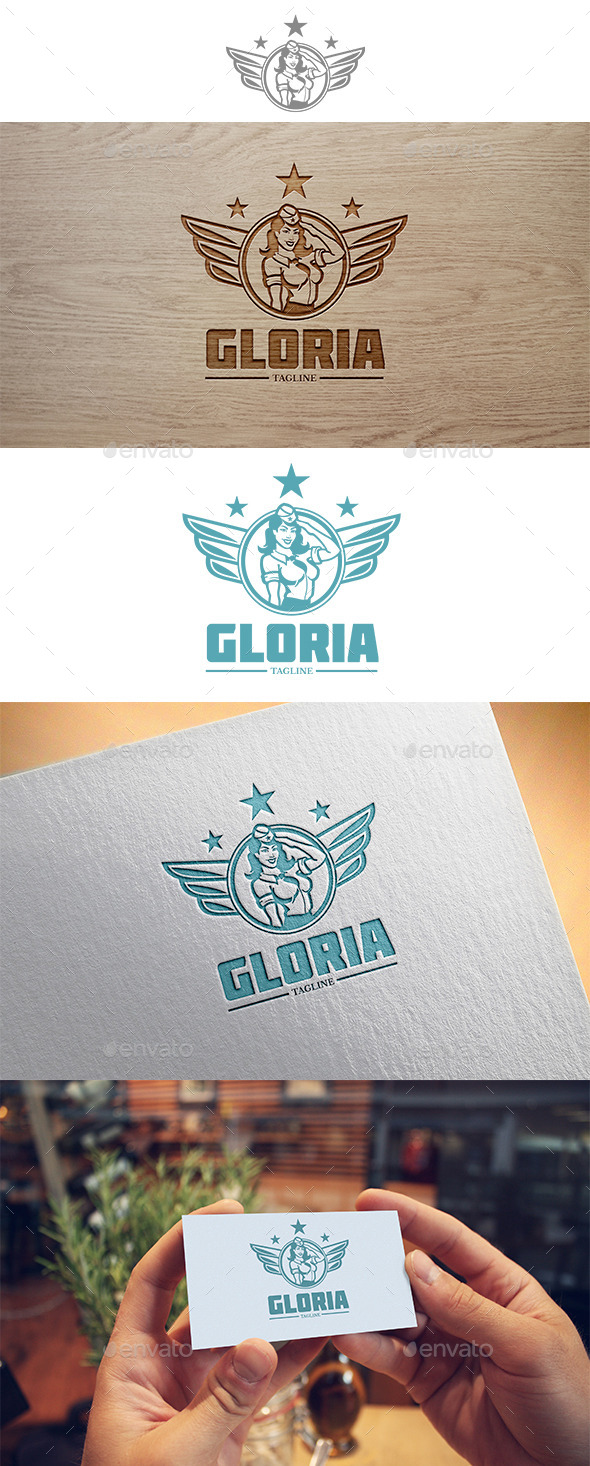 Gloria Logo - Humans Logo Templates