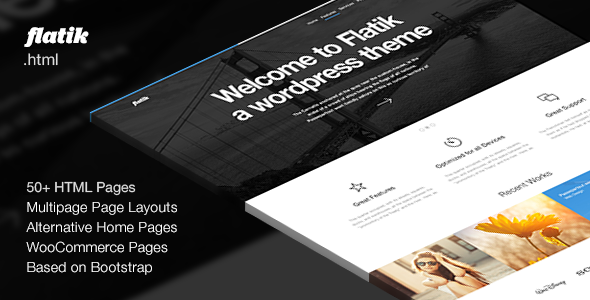 Flatik – Multipurpose Corporate Template