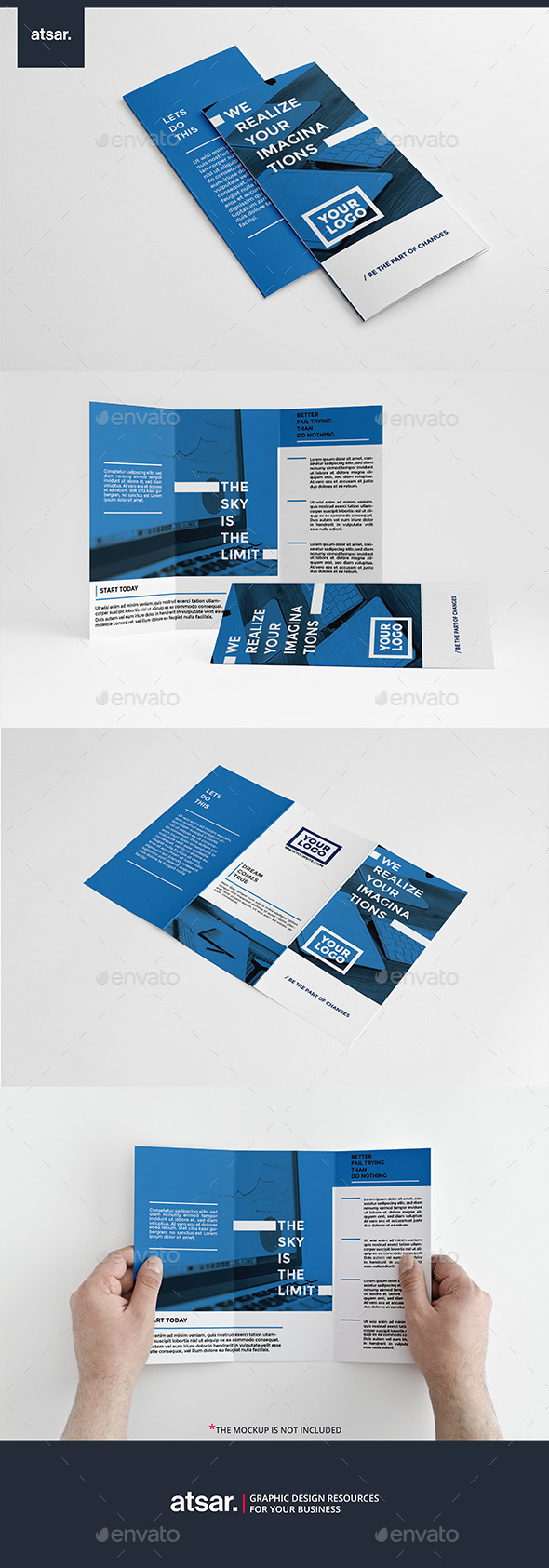 Clean Blue Trifold - Brochures Print Templates