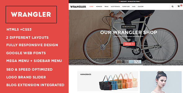 Wrangler – Advanced Responsive Magento Theme
