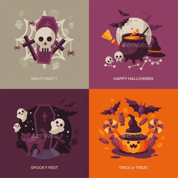 Set of Halloween Concepts