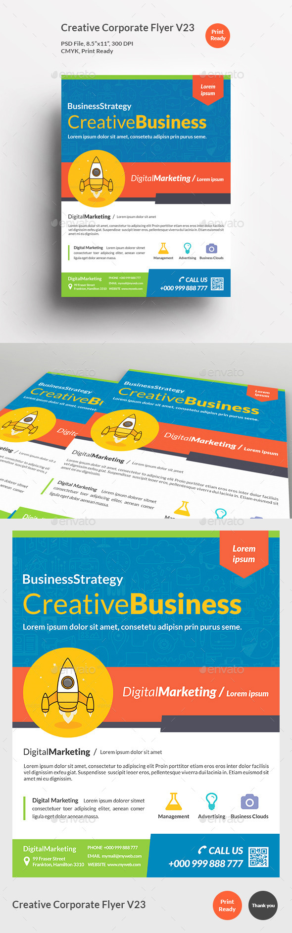 Creative Corporate Flyer V23 - Corporate Flyers