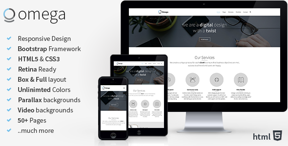 Omega – Multi Purpose Bootstrap HTML Template